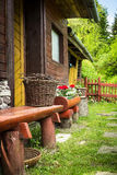Rural house on old miners village in middle Europe Royalty Free Stock Photography