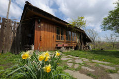 Rural house in spring Royalty Free Stock Image