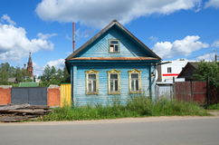 Rural house in the Tver region Royalty Free Stock Images