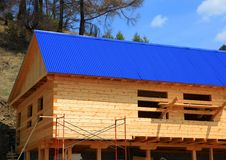 Rural house under construction Stock Image