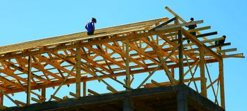 Rural house under construction Royalty Free Stock Images