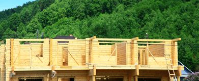 Rural house under construction Royalty Free Stock Image