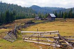 Rural household on mountain top royalty free stock photos