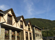 Rural Houses. Rural apartments in the beautiful village of Ordino, Andorra Stock Images