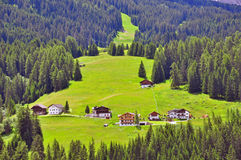 Rural houses in Alps Royalty Free Stock Photos