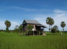 Rural houses in Cambodia Stock Photography