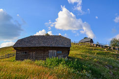Rural houses in Sirnea. Shot taken in Sirnea, Romania, Europe stock photo