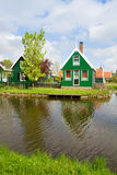 Rural  houses of Zaanse Schans, Holland Stock Photos