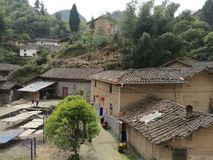 Rural housing in mountain areas of China Royalty Free Stock Photos
