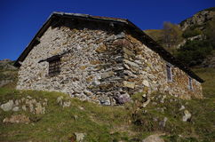 Rural hut. Rural alpine hut used as shelter for shepherds and herdsmen Stock Images