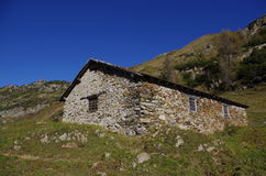 Rural hut. Rural alpine hut used as shelter for shepherds and herdsmen Royalty Free Stock Photos