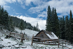Rural hutch in the mountains Stock Photography