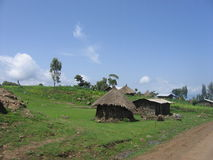 Rural Huts. Straw huts in Ethiopia, in the mioddle of no where stock image