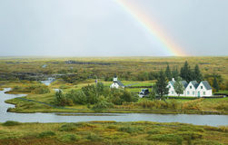 Rural Icelandic church, Pingvellir national park Stock Photo
