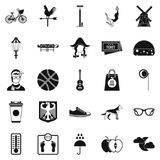 Rural icons set, simple style. Rural icons set. Simple set of 25 rural vector icons for web isolated on white background Stock Photography