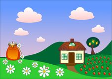 Rural idyll Royalty Free Stock Photo