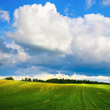 Rural idyllic landscape Royalty Free Stock Photo