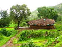Rural Indian cottage Royalty Free Stock Images