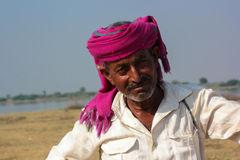 Rural Indian man traditional attire Royalty Free Stock Images