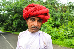 Rural Indian man traditional attire Royalty Free Stock Photography