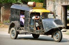 Rural indian transportation. Auto in hoshiarpur, punjab india stock photos