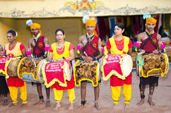 Rural Indians. In traditional costumes Royalty Free Stock Images