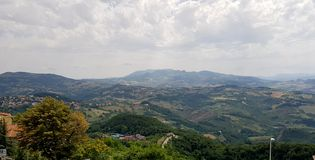 Rural inspirational landscape. Fantastic summer rural inspirational landscape in Marche, an italian region royalty free stock photography