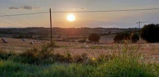 Rural inspirational landscape. Fantastic summer rural inspirational landscape in Marche, an italian region royalty free stock image