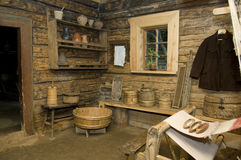 Rural interior. Old rural interior, begining of twentieth century, Belarus stock photo
