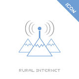Rural internet icon. Creative design of rural internet icon Stock Image