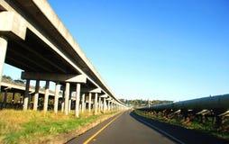A Rural Interstate Highway. Rural Interstate Highway in Flood Plain Stock Photos