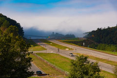 A rural Interstate in Virginia Royalty Free Stock Photos