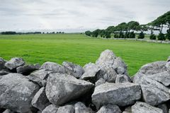 Rural Ireland. Lush, green pasture and stone walls of rural Ireland Royalty Free Stock Photography