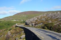 Rural Ireland. Winding rural road on the Ring of Kerry, Ireland Royalty Free Stock Image