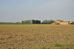 Rural Italian landscape - the Po plain by Ferrara Stock Photo