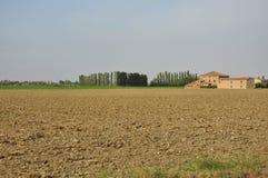 Rural Italian landscape - the Po plain by Ferrara Stock Photo