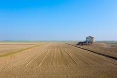 Rural Italian landscape from Po river lagoon. Stock Image
