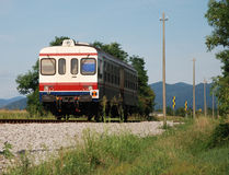 Rural Italian Train Stock Photo
