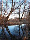 rural jezioro Obrazy Royalty Free