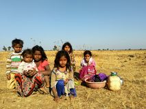 Rural kids, india Stock Photography