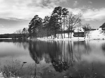 Rural lake. A rural lake in the winter time Royalty Free Stock Images