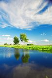 Rural lake landscape Royalty Free Stock Photos