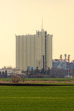 Rural landscape with agricultural silo Royalty Free Stock Image