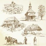Rural landscape, agriculture royalty free illustration