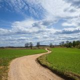 Rural landscape, agriculture farmland with crops, Poland, Europe Royalty Free Stock Photography