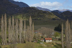 Rural landscape along the Carratera Austral Royalty Free Stock Images