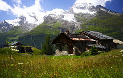 Rural landscape in the alps Royalty Free Stock Photos