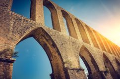 Tomar Aqueduct Royalty Free Stock Photos