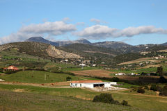 Rural landscape in Andalusia Spain Stock Images