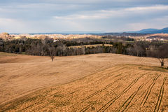 Rural Landscape on the Antietam Battlefield Royalty Free Stock Photos